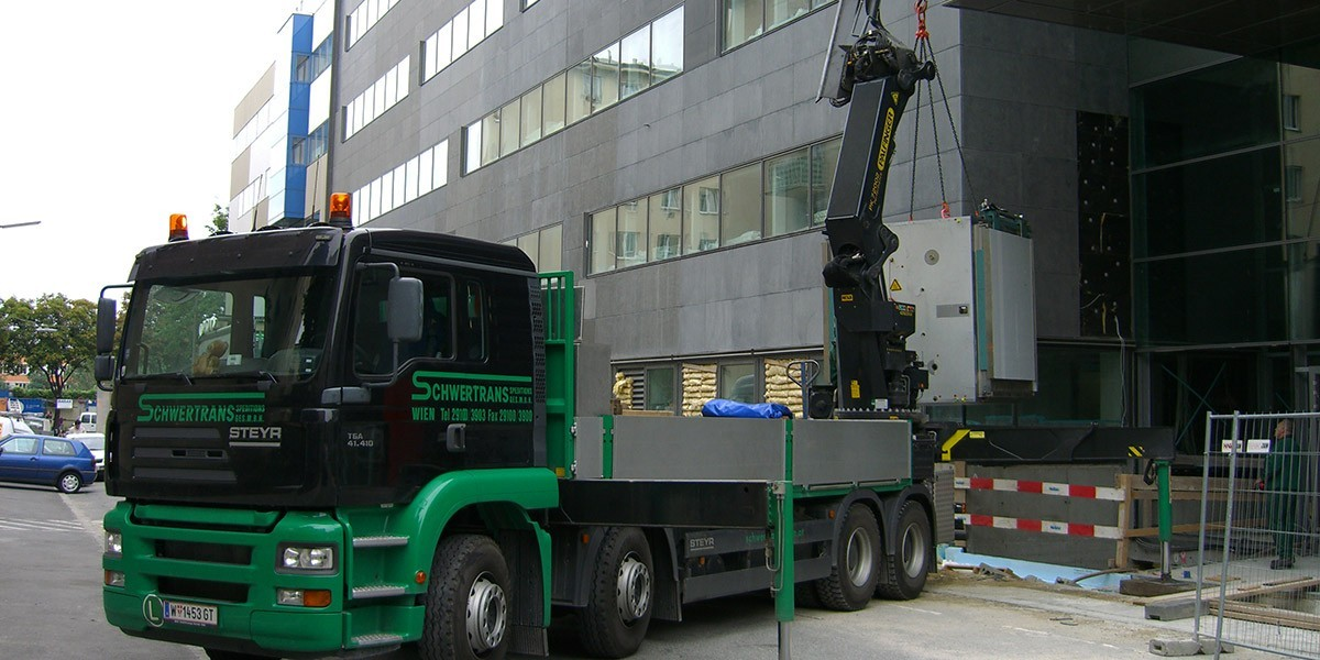 Schwertransport in Wien